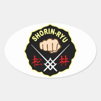 SHORIN RYU KARATE PATCH SYMBOL KANJI OVAL STICKER
