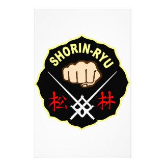 SHORIN RYU KARATE PATCH SYMBOL KANJI STATIONERY