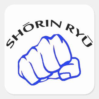SHORIN RYU KARATE SQUARE STICKER