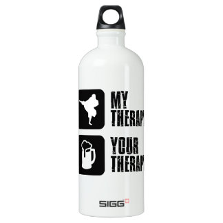 Shorinji-Kempo is my therapy Aluminum Water Bottle