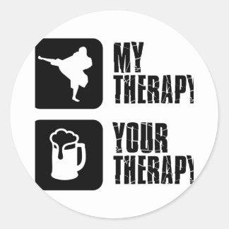 Shorinji-Kempo is my therapy Classic Round Sticker