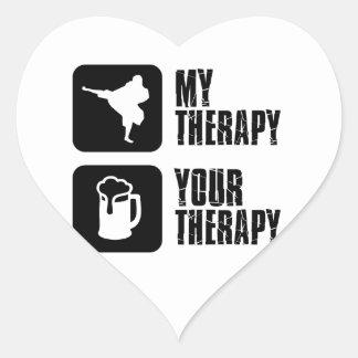 Shorinji-Kempo is my therapy Heart Sticker