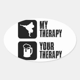 Shorinji-Kempo is my therapy Oval Sticker