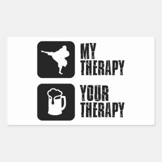 Shorinji-Kempo is my therapy Rectangular Sticker