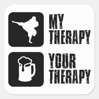 Shorinji-Kempo is my therapy Square Sticker