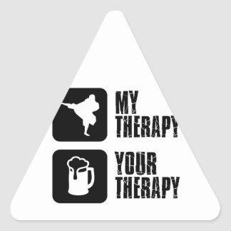 Shorinji-Kempo is my therapy Triangle Sticker