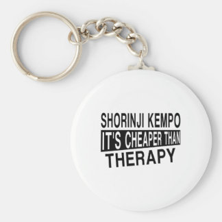 SHORINJI KEMPO IT IS CHEAPER THAN THERAPY BASIC ROUND BUTTON KEYCHAIN