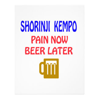 Shorinji Kempo pain now beer later Letterhead Template