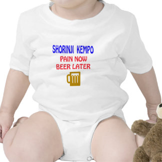 Shorinji Kempo pain now beer later Bodysuits