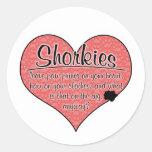 Shorkie Paw Prints Dog Humor Classic Round Sticker