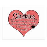 Shorkie Paw Prints Dog Humor Postcard