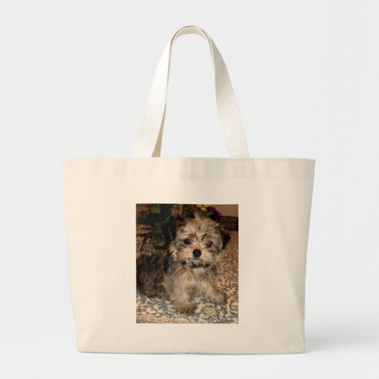 Shorkie Puppy Large Tote Bag