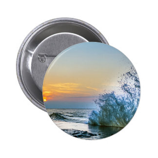 Shorline at dusk 2 inch round button