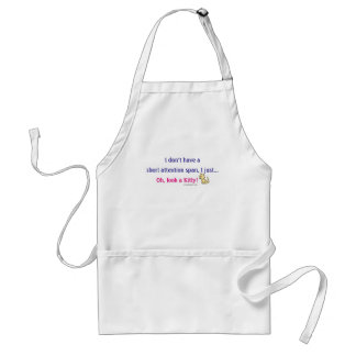 Short Attention Span Kitty Humor Adult Apron