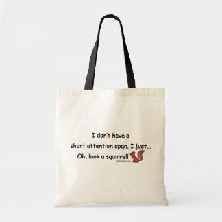 Short Attention Span Squirrel Canvas Bag