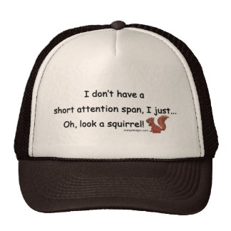 Short Attention Span Squirrel Mesh Hat
