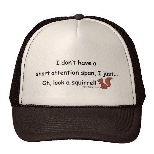 Short Attention Span Squirrel Mesh Hat