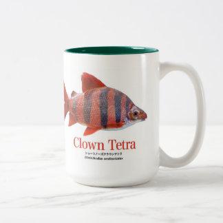 Short circuit nose & Crown tetra- Two-Tone Coffee Mug