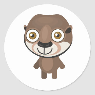 Short Clawed Otter - My Conservation Park Classic Round Sticker