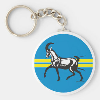 Short Eared Dairy Goat Key Chain