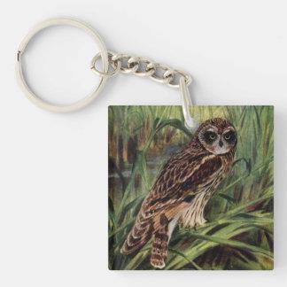 Short-eared Owl in Wetlands Keychain