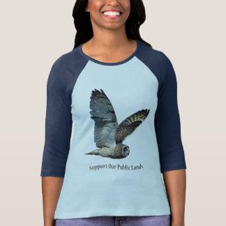 Short-eared Owl Support Our Public Lands T-Shirt