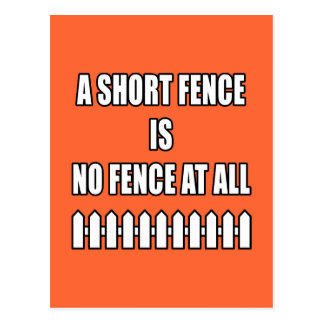 Short Fence Postcard