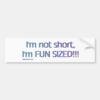 short_funsize etiqueta de parachoque