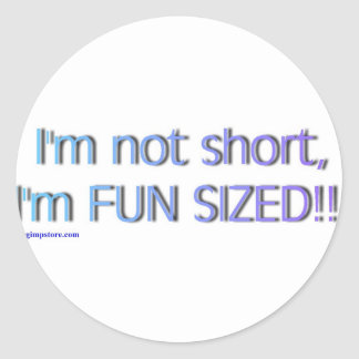 short_funsize classic round sticker