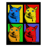 Short Haired Cat Pop Art By Request Poster