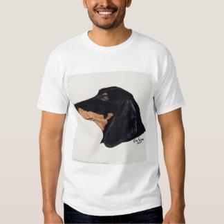 Short Haired, Dachshund, Acrylic Painting T Shirt