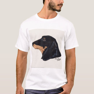 Short Haired, Dachshund, Acrylic Painting T-Shirt