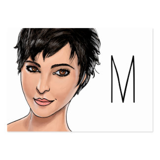 Short Haired Girl Large Business Cards (Pack Of 100)