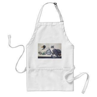 Short Haired Tabby Cat Apron