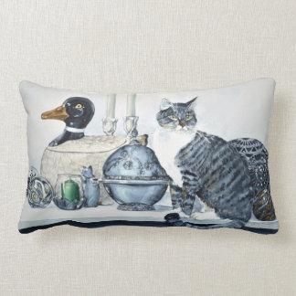 "Short Haired Tabby Cat Cotton Pillow (13"" x 21"")"