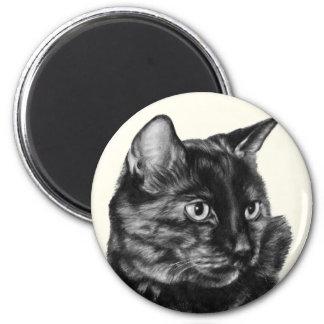 Short-Haired Tortoise-Shell Cat 2 Inch Round Magnet