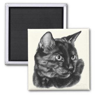 Short-Haired Tortoise-Shell Cat 2 Inch Square Magnet