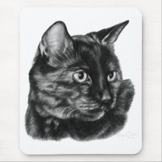 Short-Haired Tortoise-Shell Cat Mouse Pad