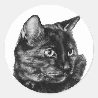 Short-Haired Tortoise-Shell Cat Classic Round Sticker