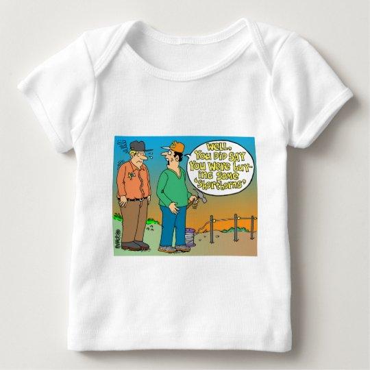SHORT HORN CARTOON / FARMER HUMOR BABY T-Shirt