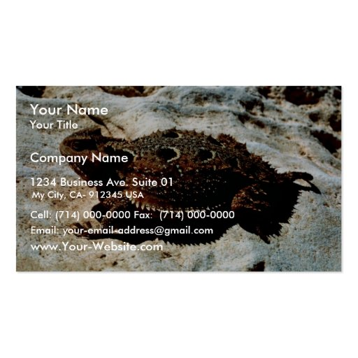 Short-horned Lizard Double-Sided Standard Business Cards (Pack Of 100)