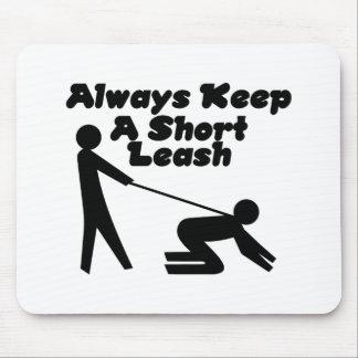 Short Leash Mouse Pads