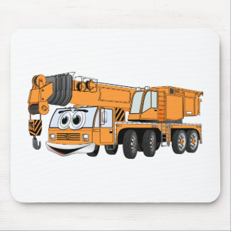 Short Orange Cartoon Crane Mouse Pad