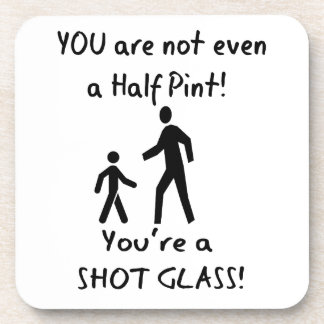 Short People Humor - For Tall People Coaster