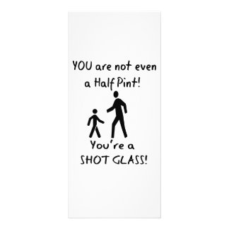 Short People Humor - For Tall People Rack Card