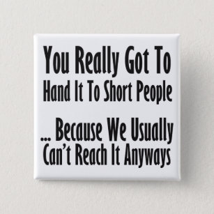 Short People Quote Button