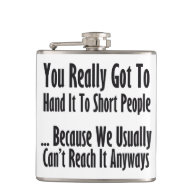 Short People Quote Flasks