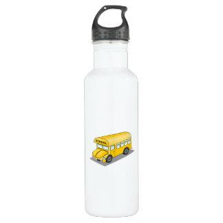 Short School Bus Stainless Steel Water Bottle