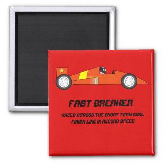 Short Term Goal Reward - Race Car Design 2 Inch Square Magnet
