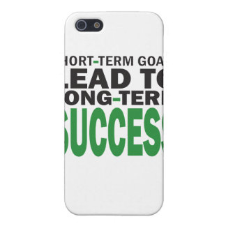 Short-term Goals lead to Long-Term Success/Green Cover For iPhone SE/5/5s